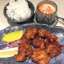 Having my favourite chicken karaage and chawanmushi for lunch.