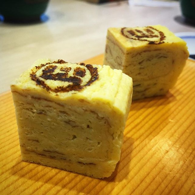didn't know tamagoyaki tasted better dipped in shoyu/wasabi..