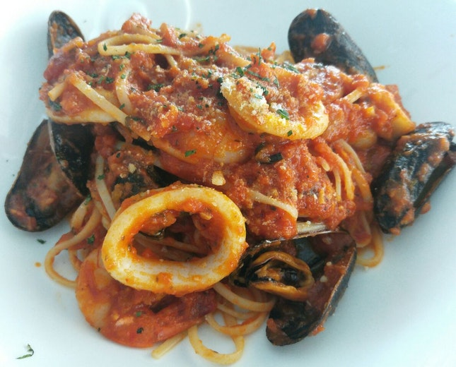 Generous Ingredients, So-so Pasta