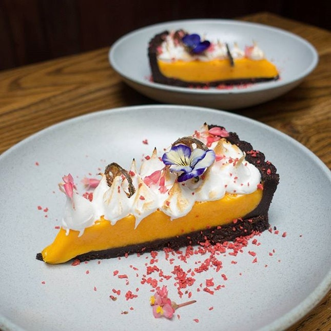 Calamansi Chocolate Tart, one of the 15 new items recently introduced in gluten-free and diary-free bistro @opendoorpolicysg new menu.