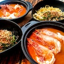 Xtra Large Prawn Noodles ($30) and Big Big Prawn Noodles ($20)