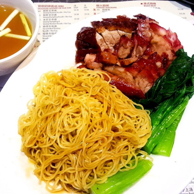 Twin Mixed Roasted Meat Noodles ($10.50)