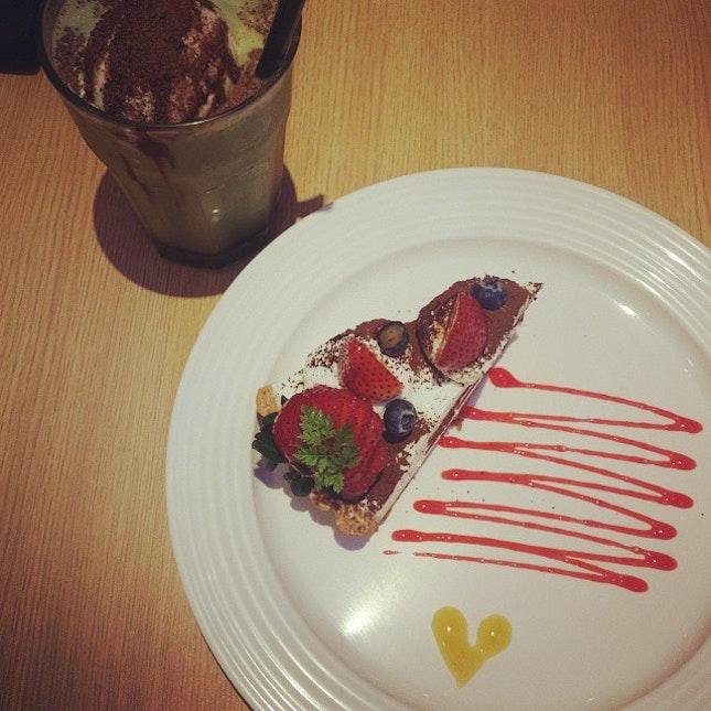 #sweetreats for the day #strawberrytiramisutart #burpple