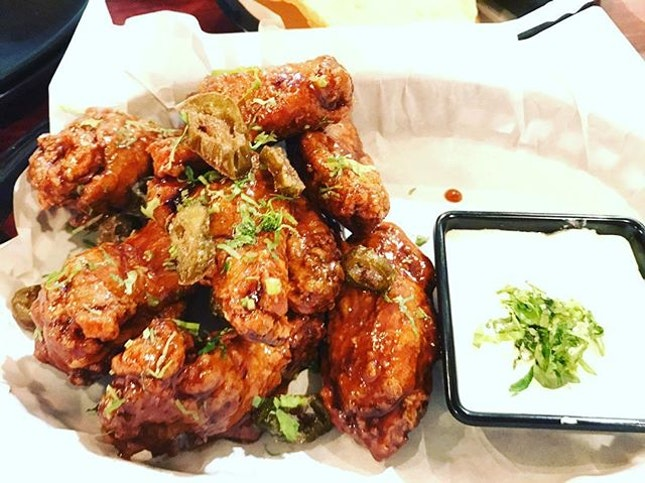 Had an adventurous go at the Honey Tequila Chicken Wings at Vatos Urban Tacos!