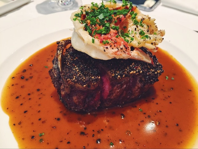 Steak with Lobster Tail
