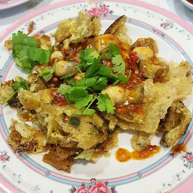 Crispy Oyster Omelette; Easily the star dish at Beng Hiang.