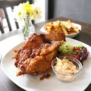 American Buttermilk Fried Chicken drizzled with maple syrup served with hand-cut fries and homemade coleslaw ($18.50, but I paid $9.25 using the eatigo app to place a reservation) The serving was huge and I'll suggest you to share.
