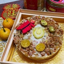 Steamed Abalone Turnip Cake ($58.88); Preserved meats crowned with an eight- headed australian abalone.