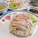 Michelin Bib Gourmand's Thai-style Hainanese Chicken Rice; Located at Nex Shopping Mall, We had the Chicken Thigh Rice ($5.50), served with their homemade sauce.