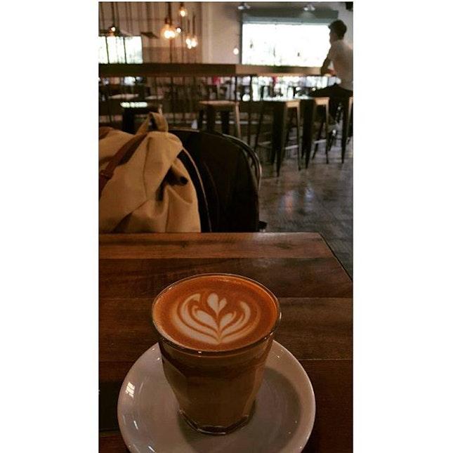 Korean coffee that worth revisit for a reason...#rainyday #flatwhite #burpple  #koreancafe #coffeeaddict #coffeeday #revisit