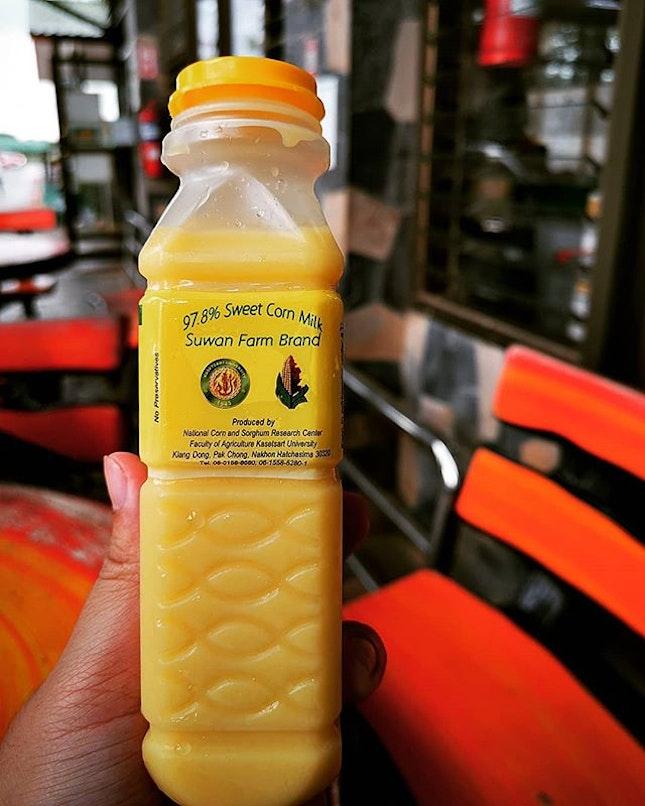 97.8% sweet corn milk...Truly corny 🌽🌽🌽 ∼20 baht  #suwan #suwancornfarm #sweetcornmilk  #corn #corn🌽 #🌽 #burpplekl #burpple #burpplegieskhaoyai #khaoyai #pakchong