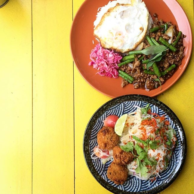; Spoilt for Choice  Lunch situation at @birdbirdsg!