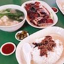 Highly recommend this stall's Roasted duck, roasted pork & char siu with wanton soup ($18) #烧腊 #roaatedduck #maxwellfoodcentre #throwback #latergram #food #foodie #foodporn #sgfood #sgfoodie #igdaily #igfood #burpple #burpplesg #qiangxxuan #charsiu #roastedpork #cantonesefood