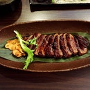 Baby had the Wagyu Beef Steak set (S$38.60).