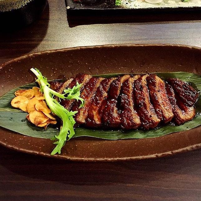 Baby had the Wagyu Beef Steak set (S$38.60).