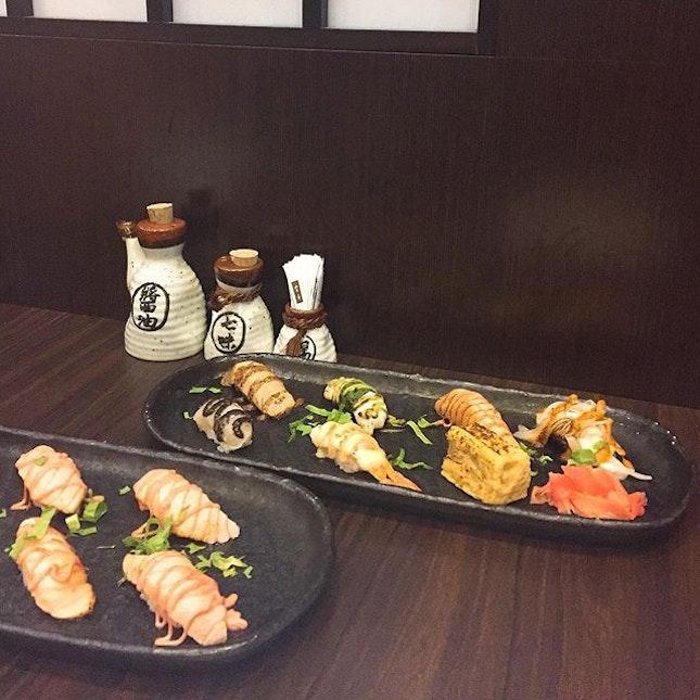 Our aburi sushi.