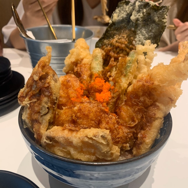 Mixed ingredients tendon bowl