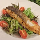 Atlantic Salmon Fillet, Pan-seared Salmon Fillet with Olive Oil.