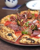 Stracciatella, Prosciutto, Rucola & Fig Vincotto ($29) Crust into highly addictive, easily digestible gourmet pizza knead with semoila, extra virgin olive oil and natural leaven using aged Mother stater, it's no brainer why Amo's pizza is deemed capable of stealing a pizza of your heart.