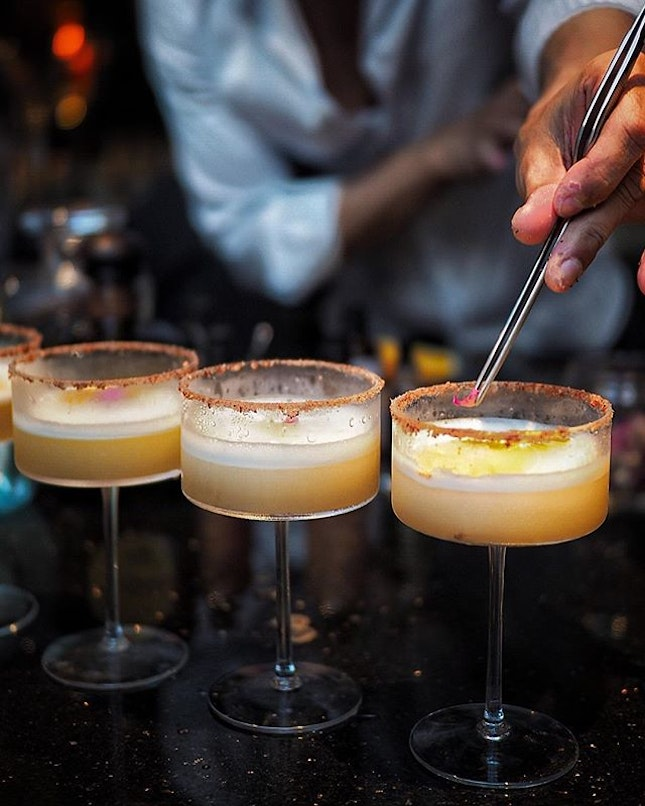 Classic Margarita ($25.00) 100% Agave Azulejo 1549 Bianco as the main base mixed with their home signature delicious sours and a touch of Triplum.