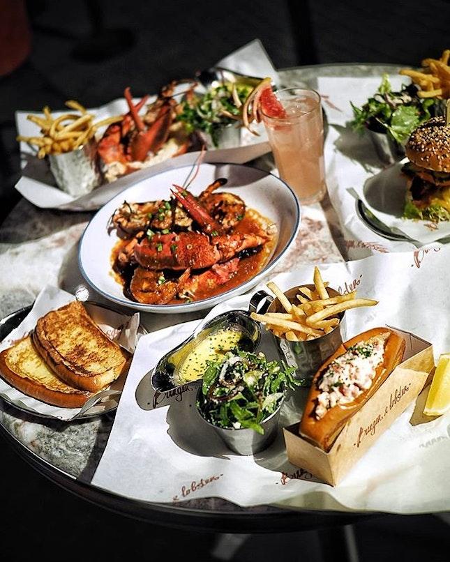 Lobster feasting @burgerandlobstersg .