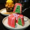Bandung (Rose syrup) Chiffon cake ($14.00) @andazsingapore.