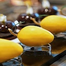 Mango ($10.00) Mango Mousse and  Passionfruit-Lychee Jelly in Chocolate Shell.