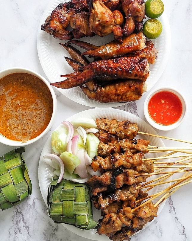 Satay and Chicken Wing
