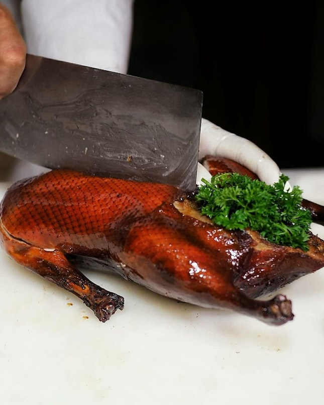 Signature Smoked Duck with Truffle Sauce