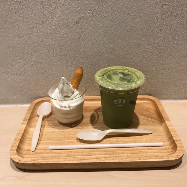 Hokkaido Milk Soft serve🍼 & Matcha Milk Tea🍵💚