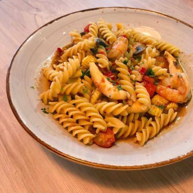 Asian-Spiced Seafood Pasta
