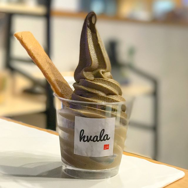 Houjicha softserve [$5.20/cup, $5.70/cone] NEW and back on the menu for a LIMITED time only, I was glad to have the opportunity to try out this flavour (after my previous failed attempt some time back).
