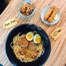 Tom yum ramen [$11.50] Fried ebi [$2/ 2 pcs] Thanks @xinhaoramen once again for the giveaway!💖 Each bowl of ramen here comes with your choice of pork belly/lean meat, hanjuku eggs and fried enoki mushrooms (served separately).