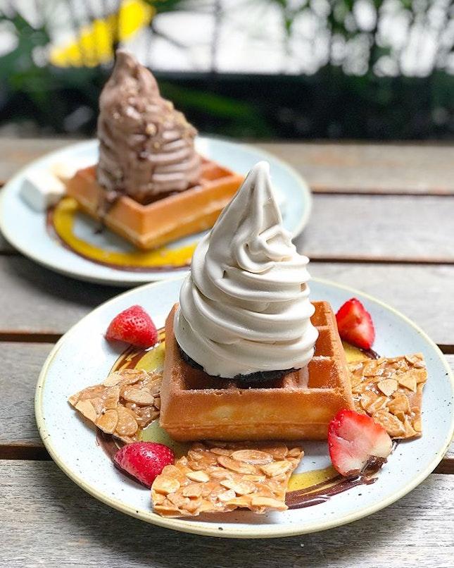 Single waffle stack [$10.70] .