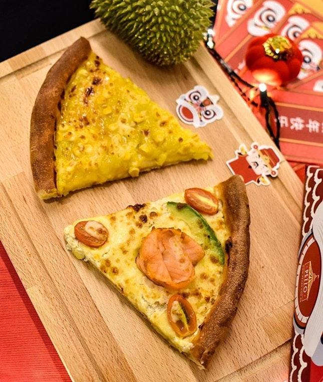 Seasonal special flavours: 1️⃣Prosperity Smoked Salmon  2️⃣ Kaya Durian [$5.90/slice, $29.90 per pan] .
