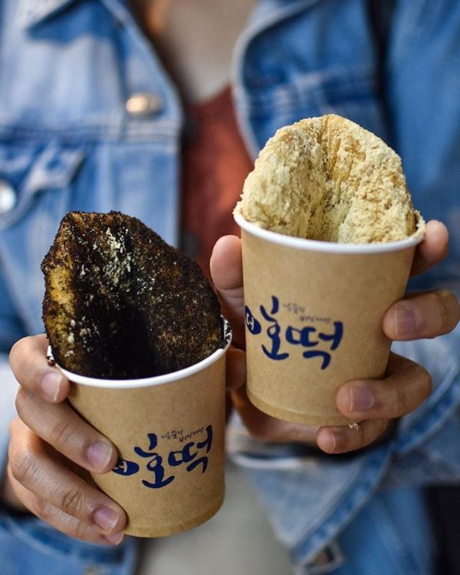 Injeolmi honey pancake [1700KRW ~> $2.05] Oreo honey pancake [1700KRW ~> $2.05] Hotteok 호떡 , a popular korean street food is a glutinous rice flour pan-fried pancake that typically comprises of fillings such as red bean, mixed nuts.
