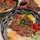 Truffle Yakiniku Beef Don, Steak & Mash