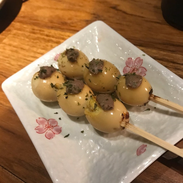Quail Eggs With Anchovies