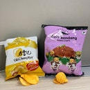 Two new chips to entice you: Old Chang Kee's Curry Chicken and F.East's beef rendang.