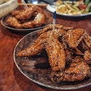 Hooters's Wings are so good; light and crispy skin + a great Samurai sauce (teriyaki sauce) makes for a great meal!