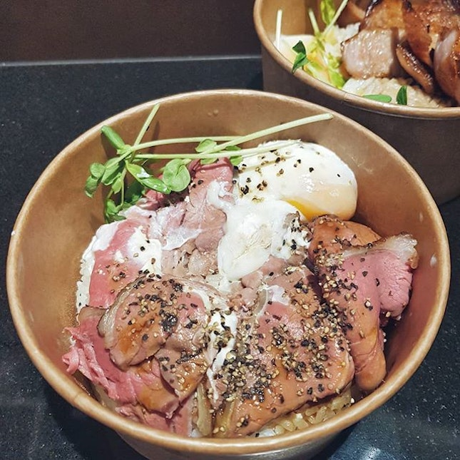 The medium rare Roast Beef Bowl ($14) from Chalong is so good!!