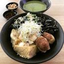 Hakka Tofu Bowl $6.50 With Lei Cha Soup