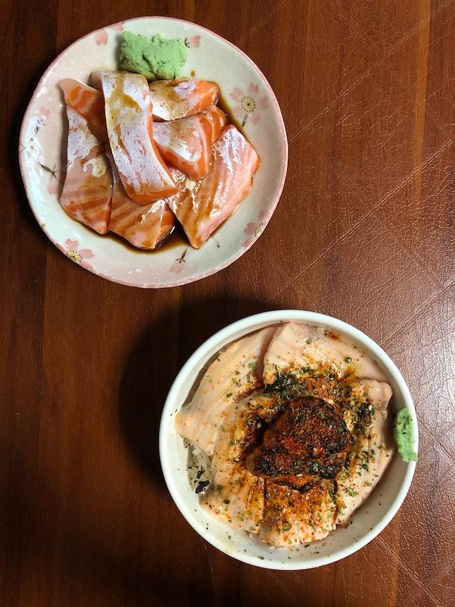 Wild Caught Salmon Sashimi & Salmon Mentai Don