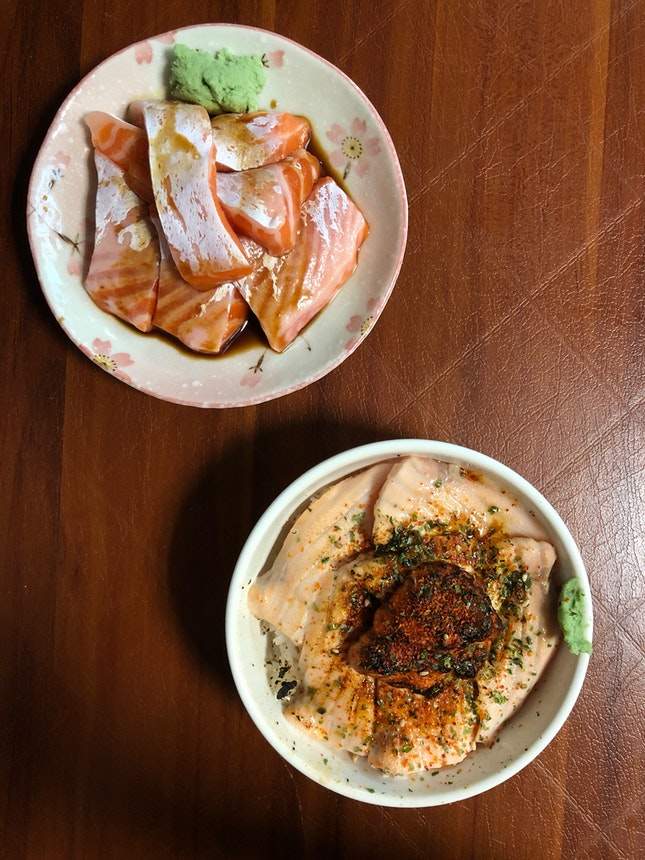 Wild Caught Salmon Sashimi & Salmon Mentai Don