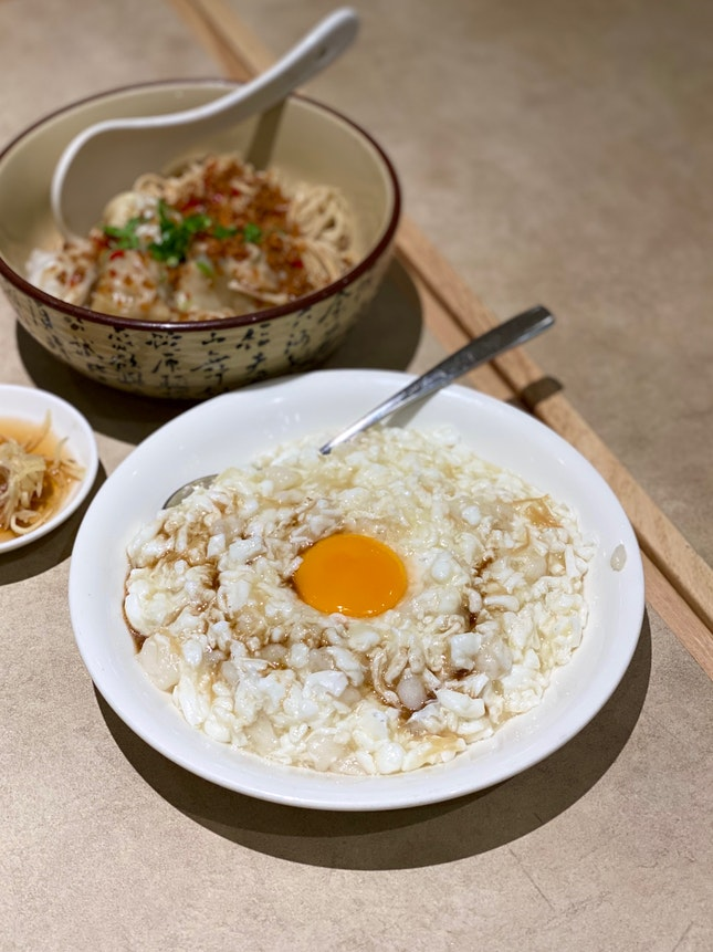 Scrambled Egg White with Fish & Dried Scallop