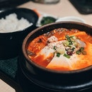Nothing quite like some spicy tofu stew to combat the insane rain we've been having.