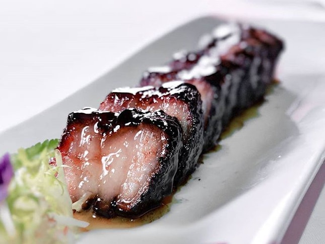 Barbecued pork glazed with a beautiful lacquer of honey.