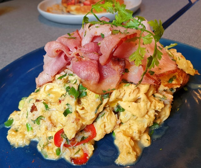 The Populus Scramble With Crab And Bisque $24.50