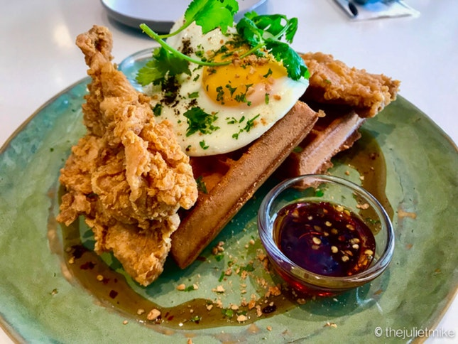 The Who Fried Chicken Waffles