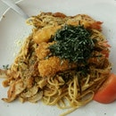 Ebi tomato spaghetti